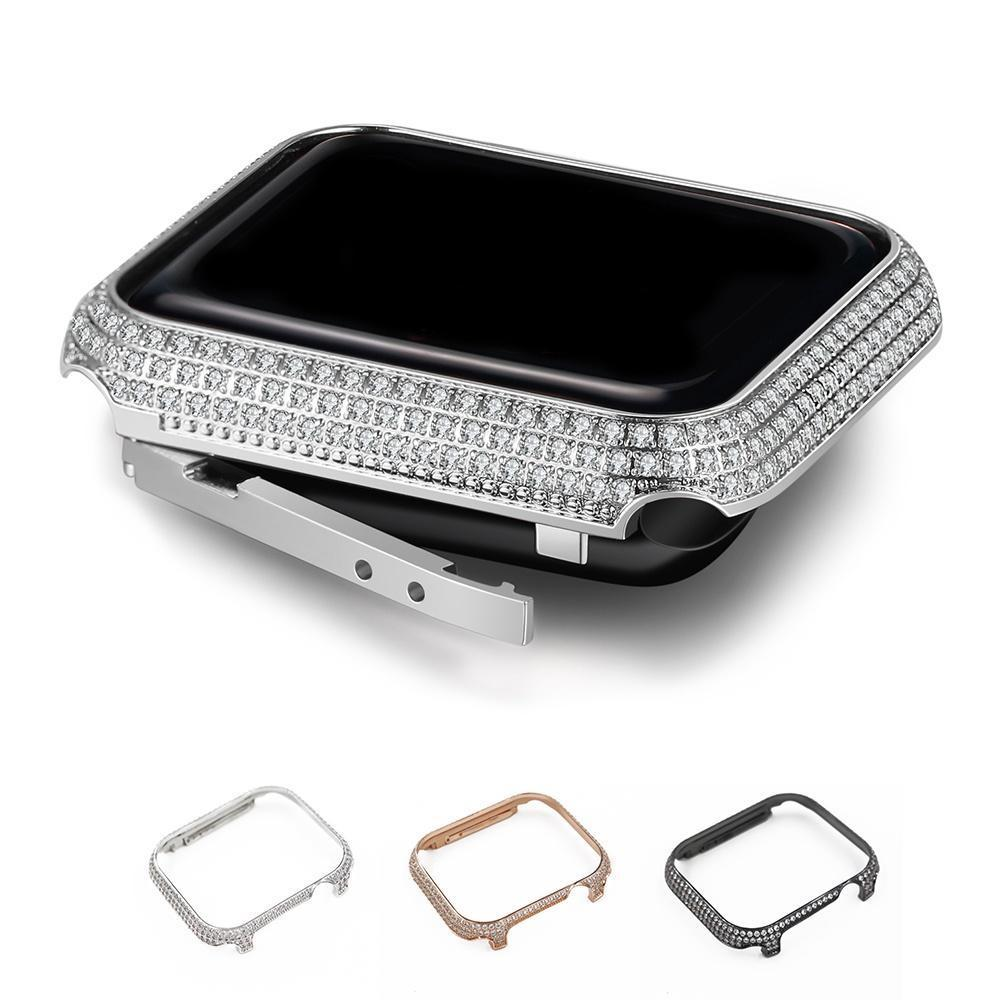 Apple Apple Watch case cover bezel, Crystal bling diamond rhinestone, Thin Light weight protective frame, iWatch band, Series 4 3 2 1 38mm 40mm 42mm 44mm