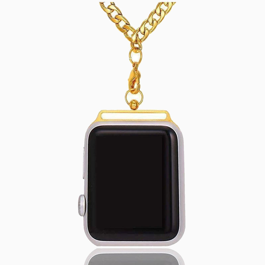 Apple watch Chain Necklace pendant Accessories for Men Women, Stainless Steel chain metal Series 3 4 5, 44/42mm 40/38mm - US Fast shipping