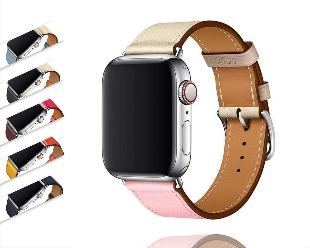 Apple Apple watch Leather Strap For  herm band 4 3 iwatch band 42mm 38mm 44mm 40mm  bracelet for apple watch 4, US Fast Shipping