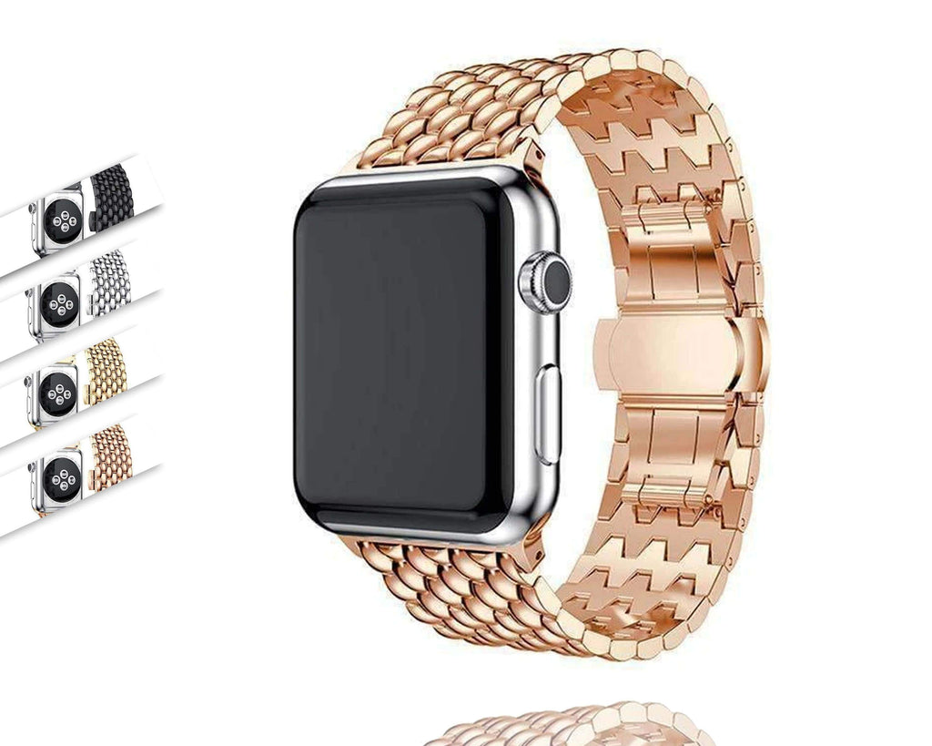 Apple Apple Watch men women shiny stainless bling metal steel 38 40 42 44 mm