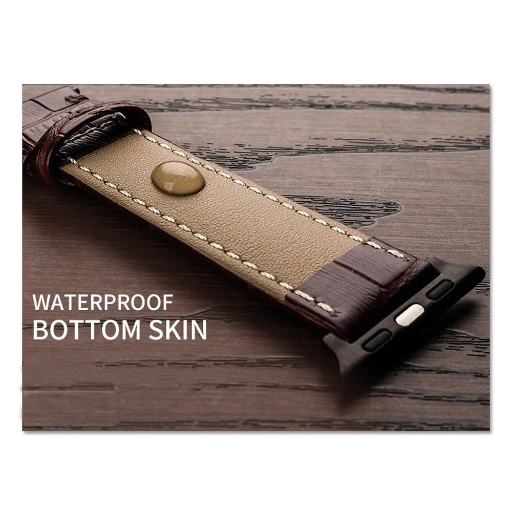 Quality leather Apple Watch Band Series 6 5 4 Alligator Pattern Design