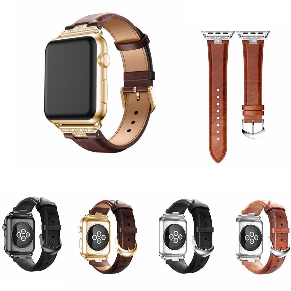 Apple Apple Watch Series 5 4 3 2 Band, Luxury Leather Formal Strap for iWatch  38mm, 40mm, 42mm, 44mm