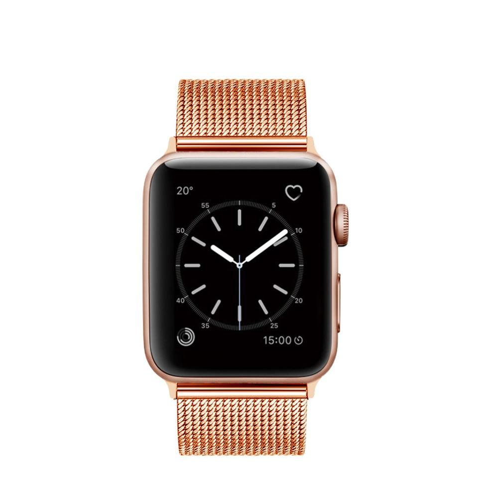 Apple Apple Watch Series 5 4 3 2 Band, Milanese mesh sport Loop Stainless Steel Watchband with Double Buckle 38mm, 40mm, 42mm, 44mm