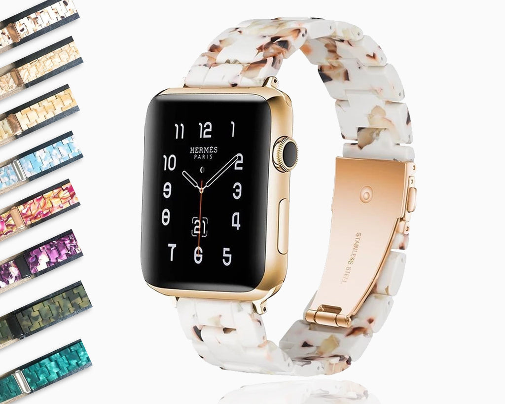 Apple Apple Watch Series 5 4 3 2 Band, Resin Watcband Ceramic Clock Belt 38mm, 40mm, 42mm, 44mm