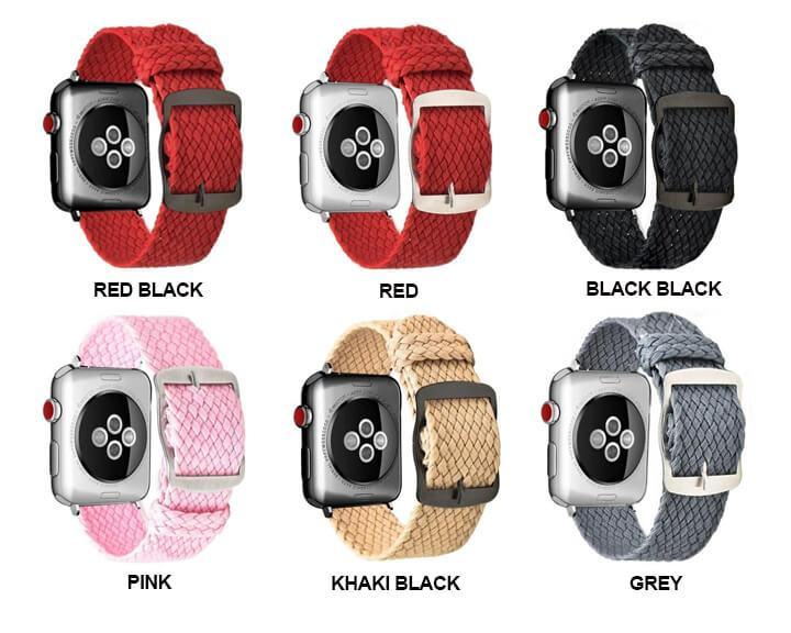 Apple Apple Watch Series 5 4 3 2 Band, Soft Breathable Nylon Polyester Watch, Sport Bracelet Strap for iWatch 38mm, 40mm, 42mm, 44mm