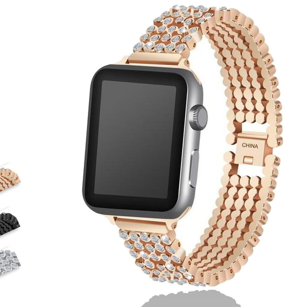 Apple Apple Watch Series 5 4 3 2 Band, Stylish Crystal Diamond stainless steel Replacement Band for iWatch 38mm, 42mm, 40mm, 44mm