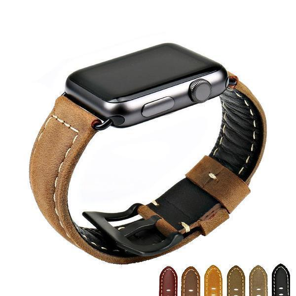 Apple Apple Watch Series 5 4 3 2 Band, Vintage Apple watch Band Tooled Leather iWatch Bracelet  42mm 38mm 38mm, 40mm, 42mm, 44mm