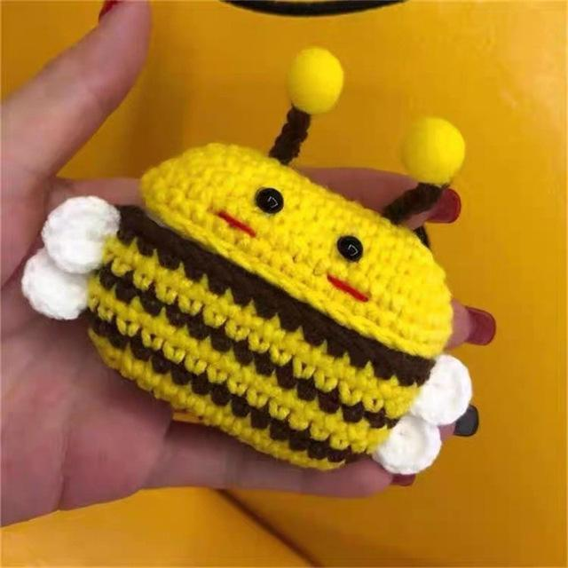 Apple bee New cartoon cute Knit earphone case for Airpod Pro For Apple New earphone cases Animal Character Pig Lovely Rabbit cover on AliExpress