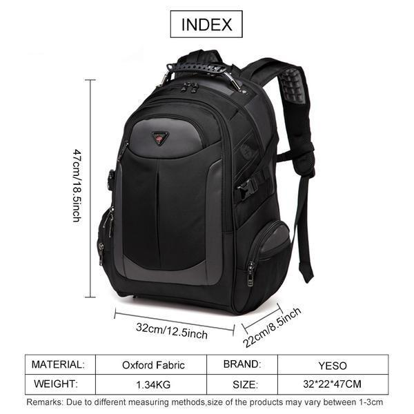 Apple Black / 15 inch   32X22X47cm Brand Laptop Backpack Men's Travel Bags 2019 Multifunction Rucksack Waterproof Oxford Black Computer Backpacks For Teenager