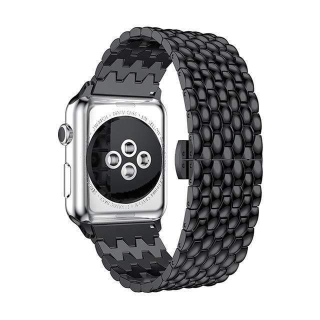 Apple Black / 38mm / 40mm Apple Watch Series 5 4 3 2 Band, Business Professional Style, Stainless Steel Strap Watch Band 40mm 44mm 38mm 42mm