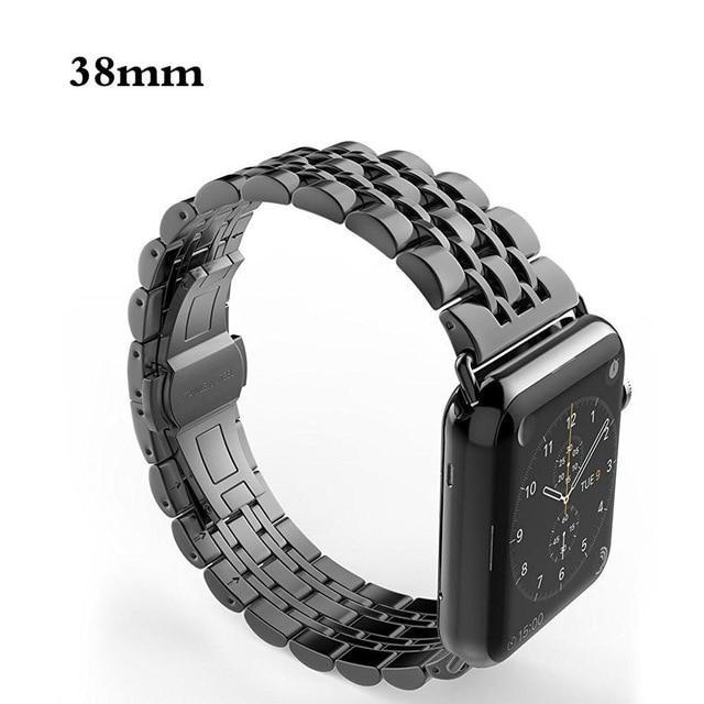 Apple black / 38mm / 40mm Apple Watch Series 5 4 3 2 Band, Luxury metal Stainless Steel rolex Strap Bracelet Wrist Belt for iWatch 38mm, 40mm, 42mm, 44mm US Fast Shipping
