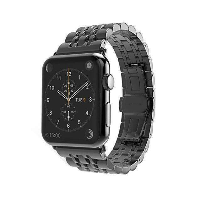 Apple Black / 38mm / 40mm Apple Watch Series 5 4 3 2 Band, Stainless Steel Rolex Style Strap, Links Watchband Smart Watch Metal Bracelet 38mm, 40mm, 42mm, 44mm