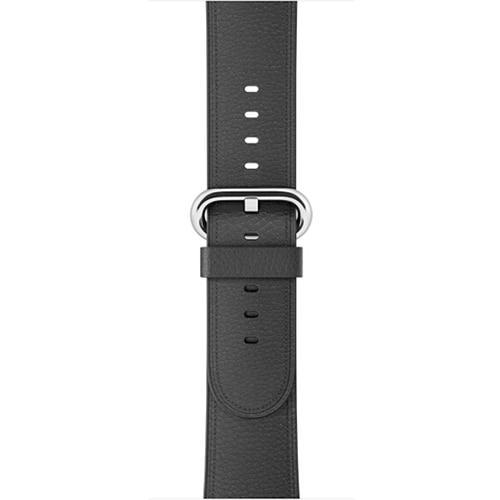 Apple Black / 42 mm Leather Strap For Apple Watch Band 42mm 38mm iwatch 4/3 Bracelet 44mm 40mm bracelet Stainless Steel Classic Buckle Watchband, USA Fast Shipping