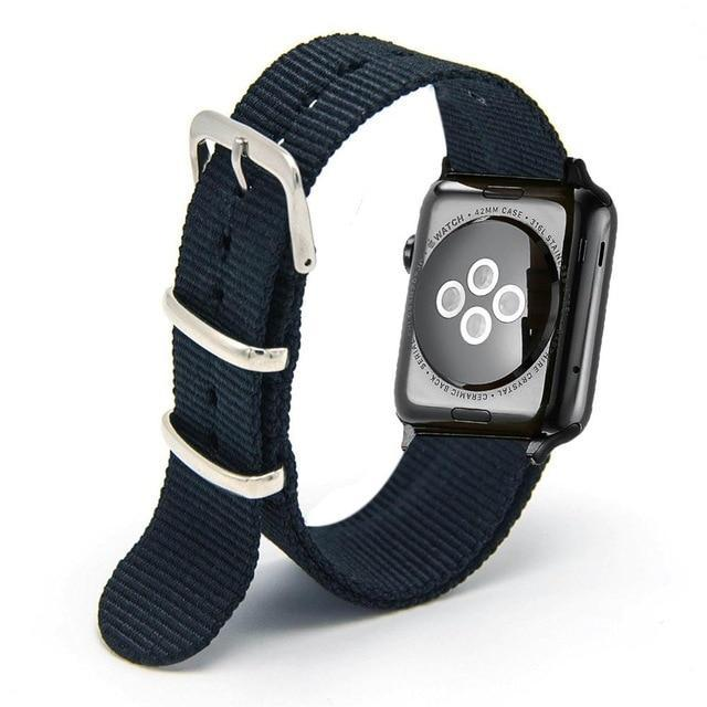 Apple Black / 44mm Woven Nylon Band Watchband For Apple Watch 3 42mm 38mm fabric-like strap iwatch 3/2/1 wrist band nylon watchband belt