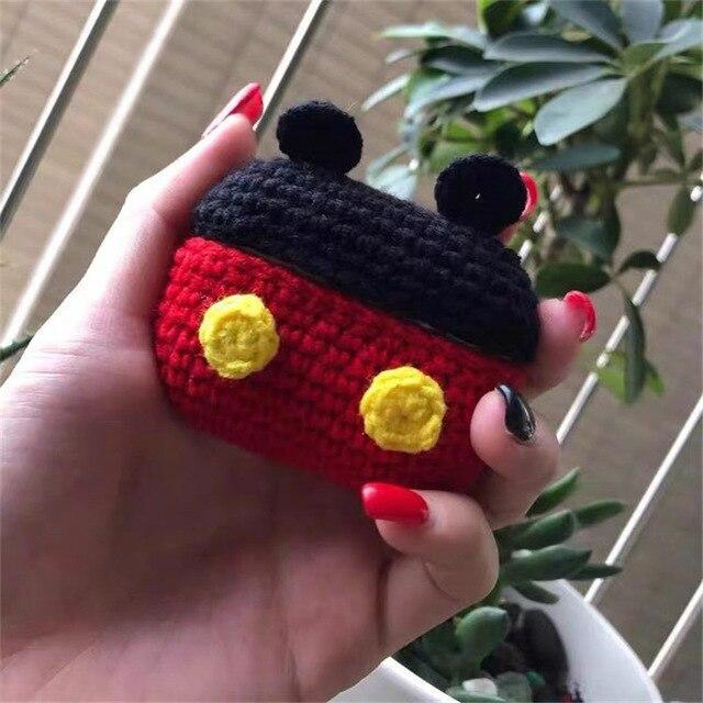 Apple Black and Red New cartoon cute Knit earphone case for Airpod Pro For Apple New earphone cases Animal Character Pig Lovely Rabbit cover on AliExpress