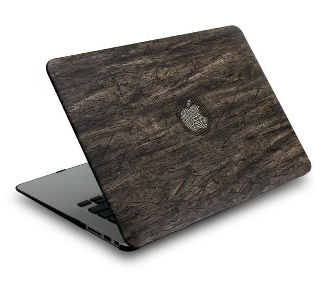 Apple Black / For MacBook 12 inch New Classical wood grain PU leather top + Hard plastic Laptop Case for MacBook Air Pro Retina 11 12 13 15 inch Touch Bar