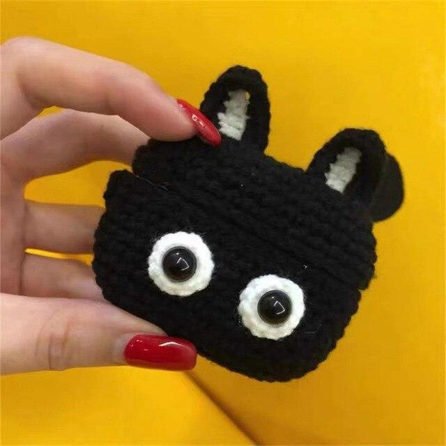 Apple Black New cartoon cute Knit earphone case for Airpod Pro For Apple New earphone cases Animal Character Pig Lovely Rabbit cover on AliExpress