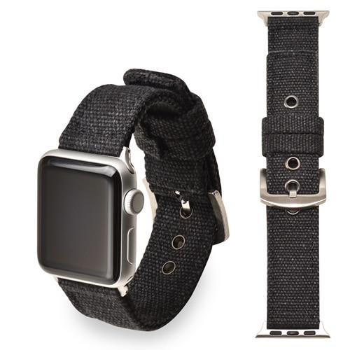 Apple black  Silver buckle / 38mm/40mm Sport Nylon strap for apple watch 4 44mm 40mm iwatch band 42 mm 38mm watchband  bracelet apple watch 3 2 1 Accessories US Fast Shipping