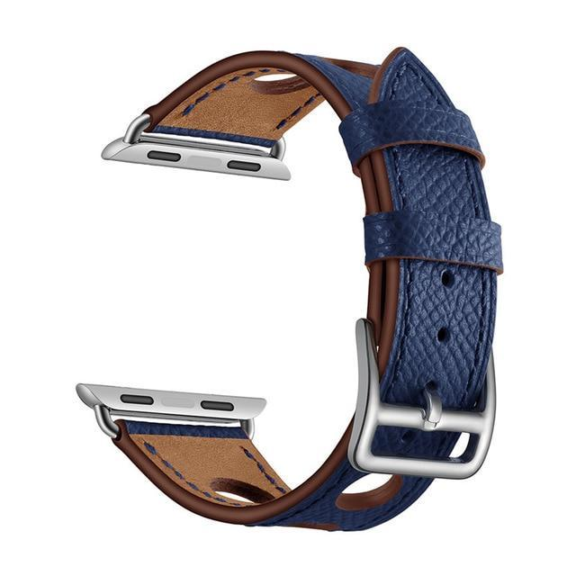 Apple Blue / 38mm Apple Watch band single leather tour 42mm 38mm 44mm 40mm iwatch series 4/3/2/1 belt replacement clock bracelet wrist, USA Fast Shipping
