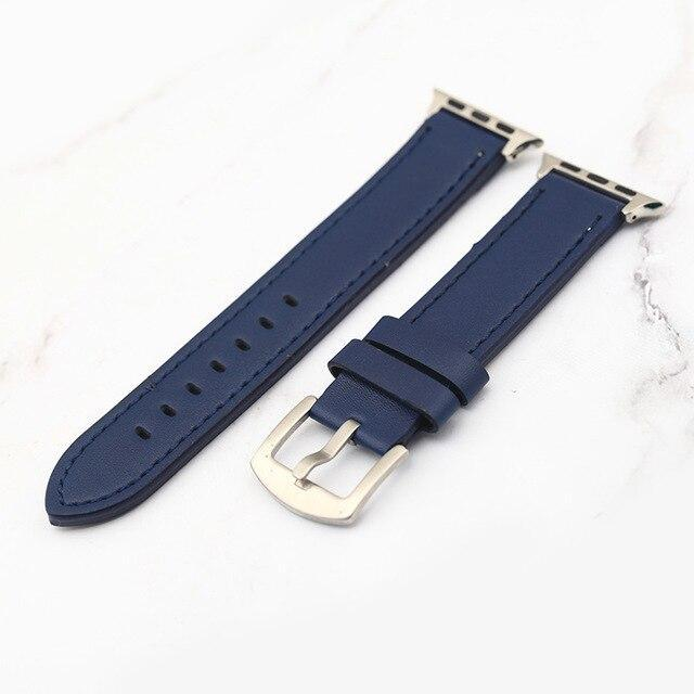 Plus Strap Cowhide Faux leather Retro Design Watch Strap 38 42mm Replacement For Apple Watch 135*80mm Lengthen Watchband