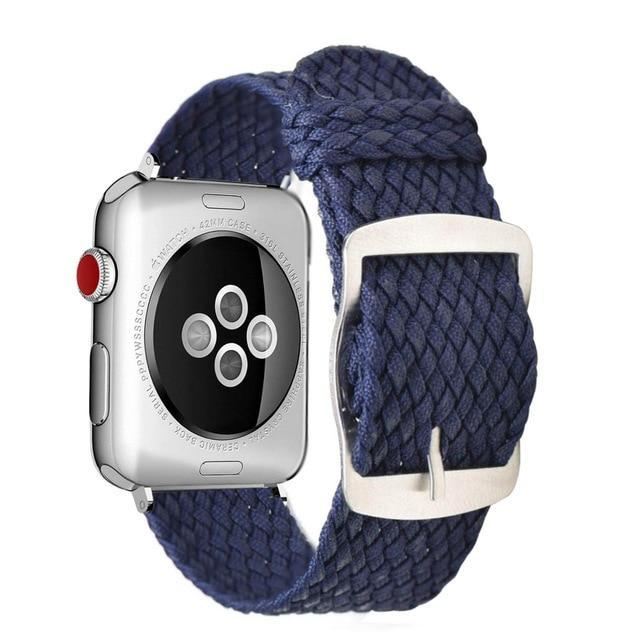 Apple Blue / 44mm Apple Watch Series 5 4 3 2 Band, Soft Breathable Nylon Polyester Watch, Sport Bracelet Strap for iWatch 38mm, 40mm, 42mm, 44mm