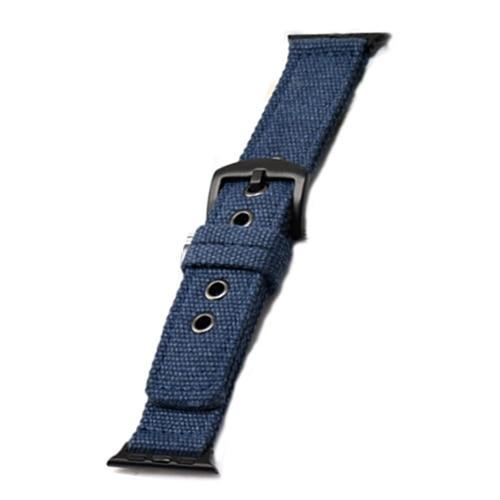 Apple blue    Black buckle / 38mm/40mm Sport Nylon strap for apple watch 4 44mm 40mm iwatch band 42 mm 38mm watchband  bracelet apple watch 3 2 1 Accessories US Fast Shipping
