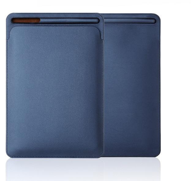 Apple Blue iPad air fits 9.7 10.5 case sleeve Pouch Bag Cover with Pencil Slot
