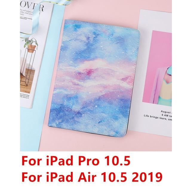 Apple Blue Pro 10.5 For iPad 9.7 2017 2018 Case A1893 Silicone Soft Back Marble PU Leather Smart Cover for iPad Air 2 1 Pro 10.5 Mini 1 2 3 4 Funda