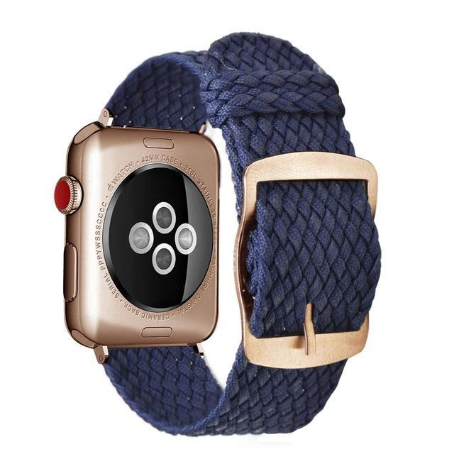 Apple Blue Rose / 44mm Apple Watch Series 5 4 3 2 Band, Soft Breathable Nylon Polyester Watch, Sport Bracelet Strap for iWatch 38mm, 40mm, 42mm, 44mm