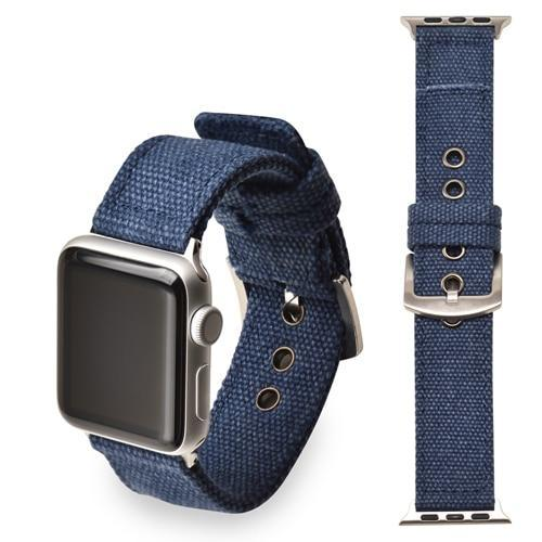 Apple blue   Silver buckle / 38mm/40mm Sport Nylon strap for apple watch 4 44mm 40mm iwatch band 42 mm 38mm watchband  bracelet apple watch 3 2 1 Accessories US Fast Shipping