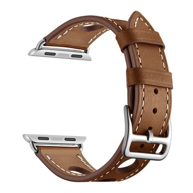 Apple Brown / 38mm Apple Watch band single leather tour 42mm 38mm 44mm 40mm iwatch series 4/3/2/1 belt replacement clock bracelet wrist, USA Fast Shipping