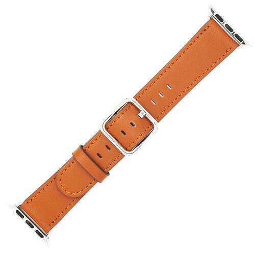 Apple Brown / 42 mm Leather Strap For Apple Watch Band 42mm 38mm iwatch 4/3 Bracelet 44mm 40mm bracelet Stainless Steel Classic Buckle Watchband, USA Fast Shipping
