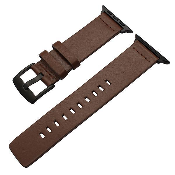 Apple Brown B / 38mm Genuine Leather Watchband for iWatch Apple Watch 38mm 40mm 42mm 44mm Series 1 2 3 4 Band Steel Buckle Strap Bracelet