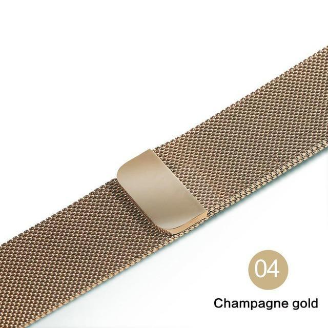 Apple Champagne gold / For 38MM and 40MM milanese loop for apple watch Series 1 2 3 4 5 band for iwatch stainless steel strap Magnetic buckle 38mm 40mm 42mm44mm Bracelet