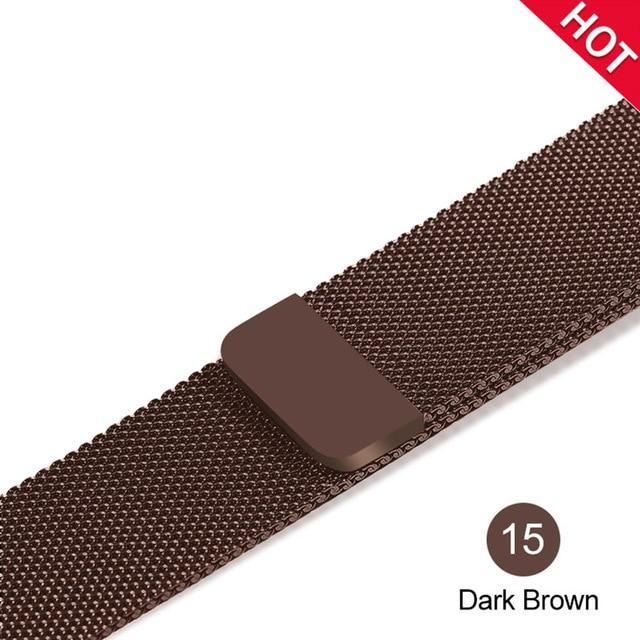 Apple Dark Browm / For 38MM and 40MM milanese loop for apple watch Series 1 2 3 4 5 band for iwatch stainless steel strap Magnetic buckle 38mm 40mm 42mm44mm Bracelet