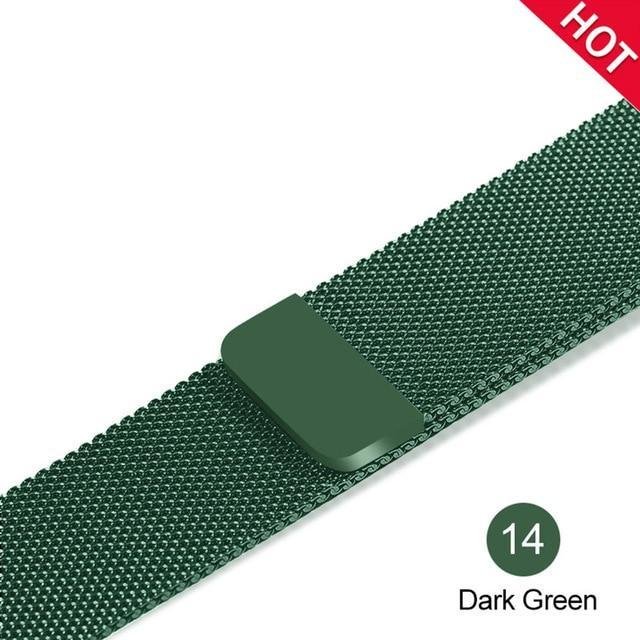 Apple Dark green / For 38MM and 40MM milanese loop for apple watch Series 1 2 3 4 5 band for iwatch stainless steel strap Magnetic buckle 38mm 40mm 42mm44mm Bracelet