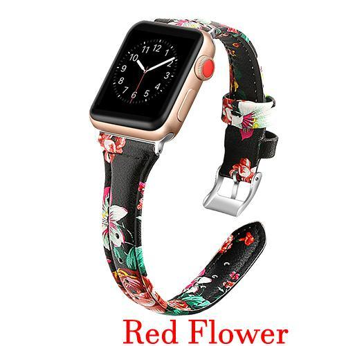 Apple Dark Red / 42mm 44mm AW Pulseira strap For apple watch band iwatch 4 3 42mm 38mm 44mm 40mm correa for apple watch band leather Bracelet Accessories, USA Fast Shipping