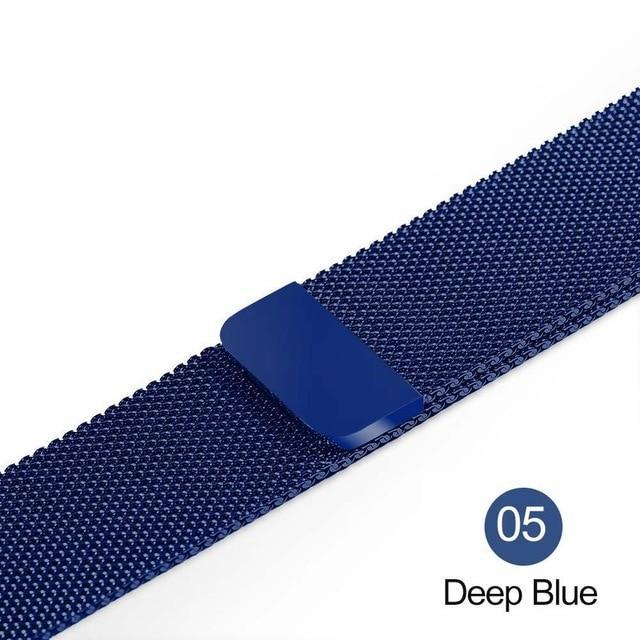 Apple Deep Blue / For 38MM and 40MM milanese loop for apple watch Series 1 2 3 4 5 band for iwatch stainless steel strap Magnetic buckle 38mm 40mm 42mm44mm Bracelet