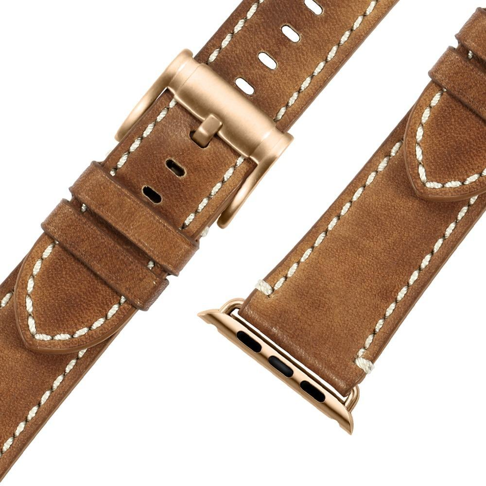 Apple Durable Faux Leather iWatch Band 42mm 38mm / 44mm 40mm for  Apple Watch Series 4 3 2 1 for Apple Watch Strap