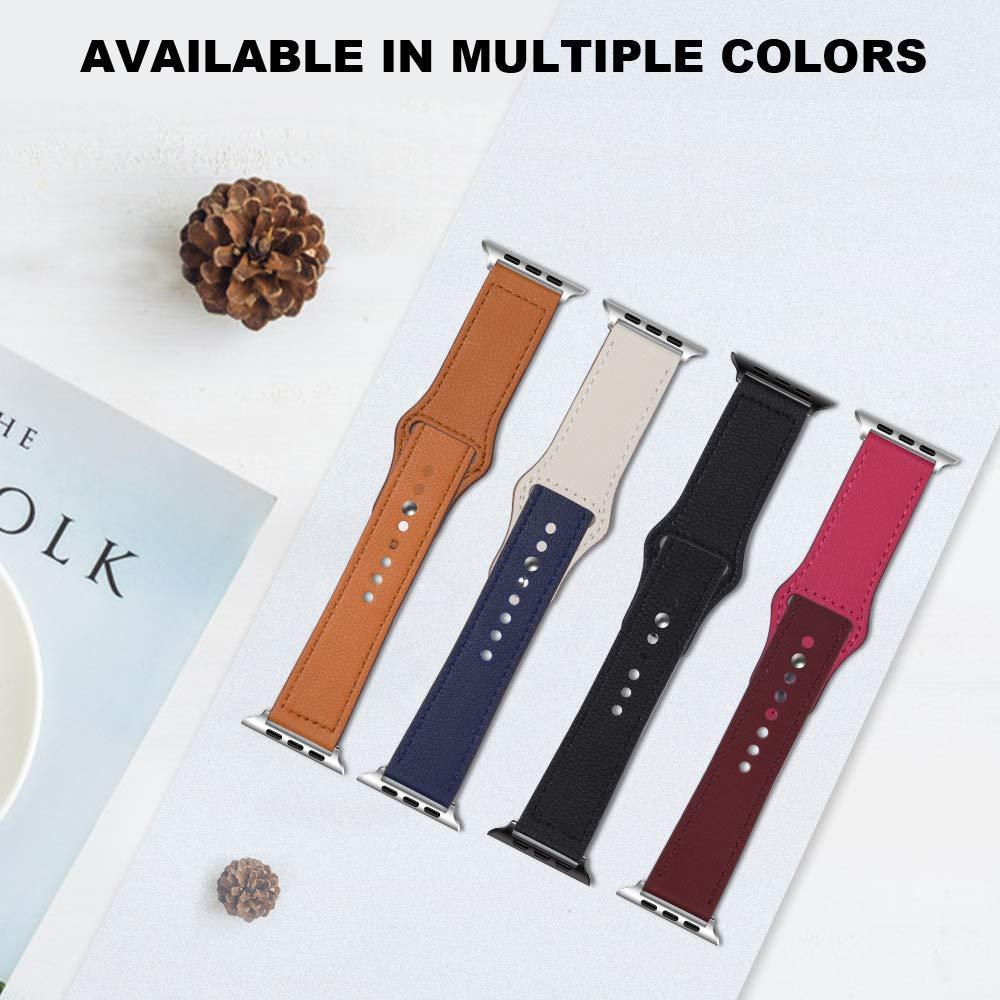 Apple Faux Leather Strap for pulseira apple watch band 42mm 38mm 40mm 44mm sports high-quality correa for apple iWatch bracelet 4 3/2 belt