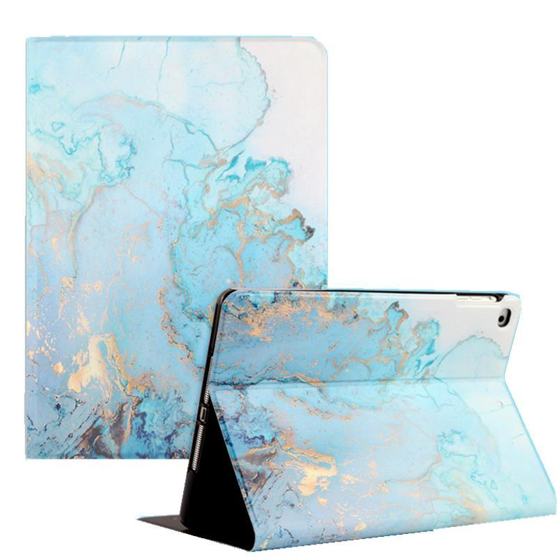 Apple For iPad 9.7 2017 2018 Case A1893 Silicone Soft Back Marble PU Leather Smart Cover for iPad Air 2 1 Pro 10.5 Mini 1 2 3 4 Funda
