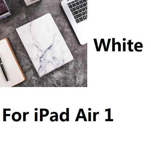 Apple For iPad Air1 W Hard Marble Pattern PC Material Support Protective Cover Case For iPad Air 1 2 Mini 1234 iPad 234 iPad 2017 2018 9.7inch