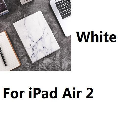 Apple For iPad Air2 W Hard Marble Pattern PC Material Support Protective Cover Case For iPad Air 1 2 Mini 1234 iPad 234 iPad 2017 2018 9.7inch
