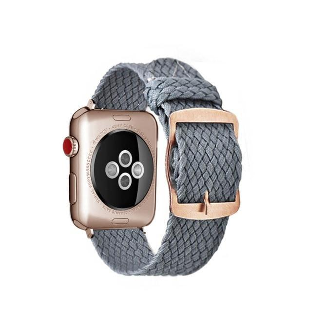 Apple Gary Rose / 44mm Apple Watch Series 5 4 3 2 Band, Soft Breathable Nylon Polyester Watch, Sport Bracelet Strap for iWatch 38mm, 40mm, 42mm, 44mm