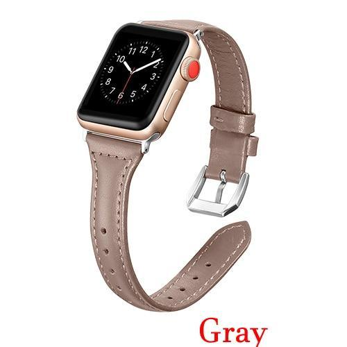 Apple Gray / 42mm 44mm AW Pulseira strap For apple watch band iwatch 4 3 42mm 38mm 44mm 40mm correa for apple watch band leather Bracelet Accessories, USA Fast Shipping