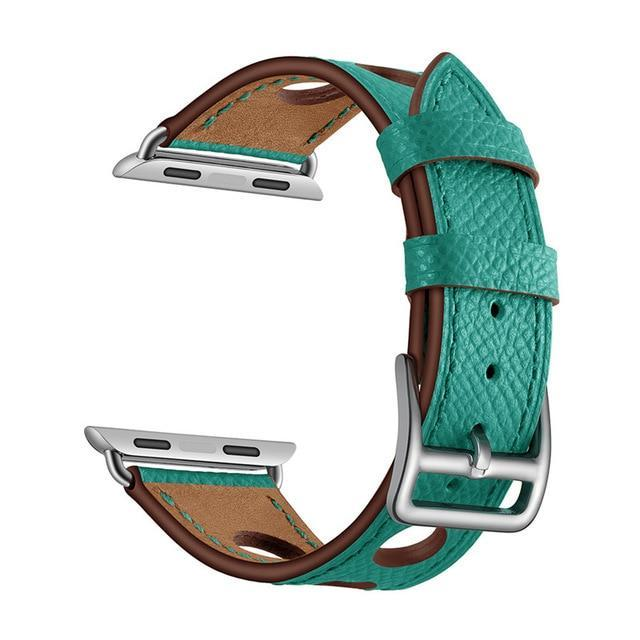 Apple Green / 38mm Apple Watch band single leather tour 42mm 38mm 44mm 40mm iwatch series 4/3/2/1 belt replacement clock bracelet wrist, USA Fast Shipping