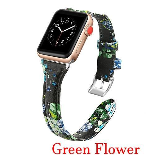 Apple Green / 42mm 44mm AW Pulseira strap For apple watch band iwatch 4 3 42mm 38mm 44mm 40mm correa for apple watch band leather Bracelet Accessories, USA Fast Shipping