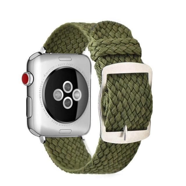 Apple Green / 44mm Apple Watch Series 5 4 3 2 Band, Soft Breathable Nylon Polyester Watch, Sport Bracelet Strap for iWatch 38mm, 40mm, 42mm, 44mm