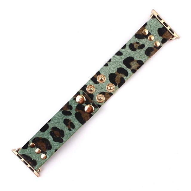 Apple Green / Rose Gold Tone / 38mm Handmade Leather Adjustable Bracelets for Apple Watch Band 38mm 42mm Genuine Leather Apple Watch iWatch Strap