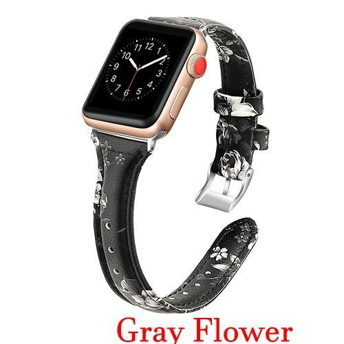 Apple Gun metal Black / 42mm 44mm AW Pulseira strap For apple watch band iwatch 4 3 42mm 38mm 44mm 40mm correa for apple watch band leather Bracelet Accessories, USA Fast Shipping